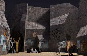 Bühnenbildentwurf Rafael Villalobos/ Rafael Merino