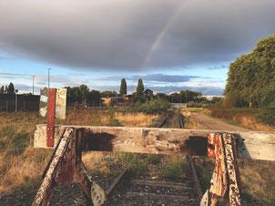 Regenbogen-Entdeckung nahe des Duisburger Innenhafens