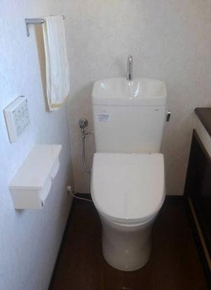 トイレ交換 ピュアレストQR手洗い付き