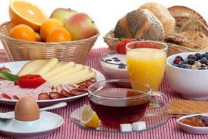 Ontbijt in Bed & Breakfast Zevenhuizen