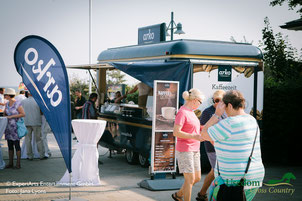Der arko Kaffeewagen direkt an der historischen Seebrücke in Ahlbeck. Foto: EAE- Jana Lyons