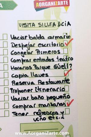 Utiliza tu lista de Maestra para organizar la visita de tus invitados - AorganiZarte.com