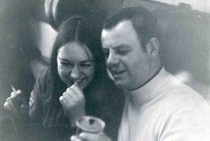 Vereinstour 1973 nach Züchen mit Christa Franzen und Harald Pletsch