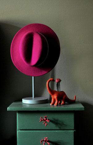 Winterkollektion / Silvia Bundschuh Hutdesign Hamburg / Filzhut pink
