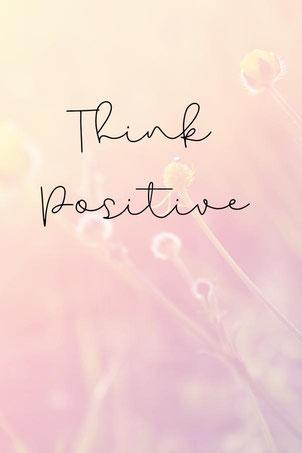 Grafik mit Text - think positive