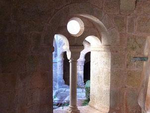 détail du cloître de l'abbaye du Thoronet Var