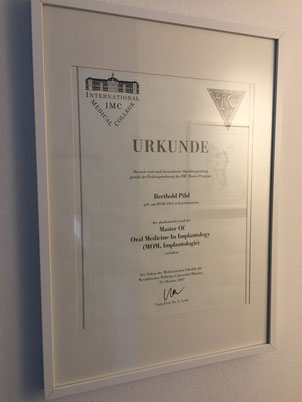 Master of Oral Medicine in Implantologie Zahnarzt Berthold Pilsl in Garmisch Partenkirchen