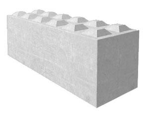 Betonblockstein 60x60cm für den Bau in Bayern, Auhausen.