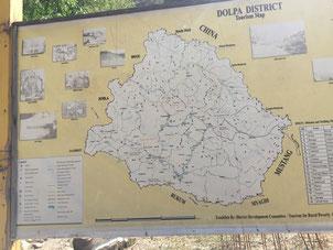 Karte von Dolpo