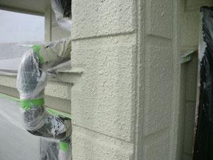 外壁リフォーム塗装【柱】塗装後