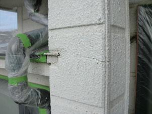 外壁リフォーム塗装【柱】施工前