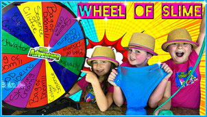 Mystery Wheel, Mysery Wheel of Slime, kids youtube, slime video, kids, challenges, wheel of mystery