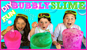 science, kids science, slime, bubbly slime, diy