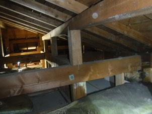 屋根裏進入調査も行います