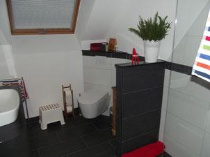 Ein kleines, aber gemütliches Badezimmer