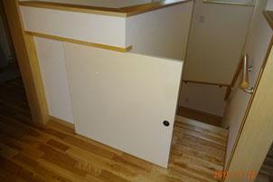 孫の、階段から落下防止の戸