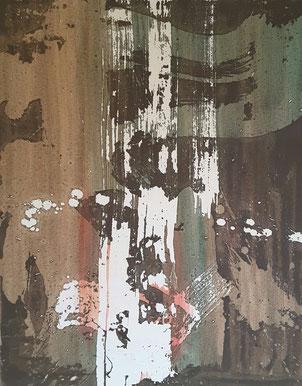 Ohne Titel 3, XL Leinwand, 50 x 60 cm. Januar/Februar 2016