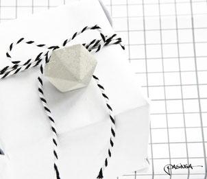 Tag a Gift, Concrete Diamond Gift Tag Set of 6 by PASiNGA