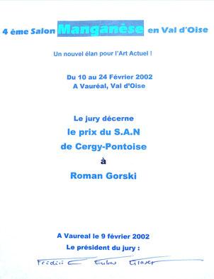 "2002 - salon d'art actuel "" Manganèse "", Vauréal - Roman Gorski"