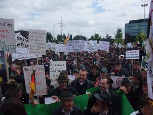 Demonstration Luxemburg am 22.06.2009