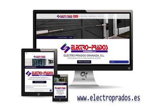Web de Electro Prados realizada por Granada Sites