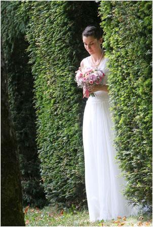 Robe mariée sur mesure Toulouse tulle plumetis dentelle
