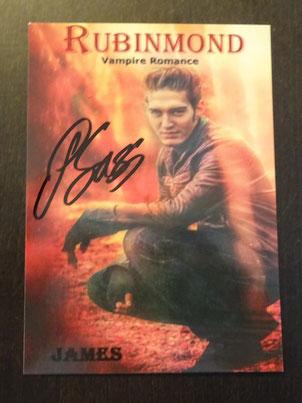 """inklusive Autogrammkarte von Romanvampir """"James"""" Patrick Sass"""