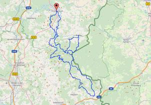 Karte Oberpfalz MTB Trail 3176 Hm 121 Km