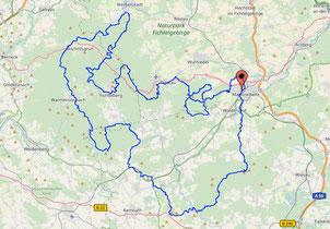 Karte  Mtb Fichtelman Süd 157 Km 5214 Hm