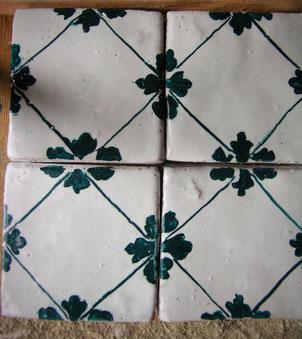 maiolica 10 x 10 dipinte a mano cotto smaltato per cucina