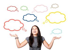 Gedanken, Selbstgespräch, Wohlbefinden, Leistung, Gehirn