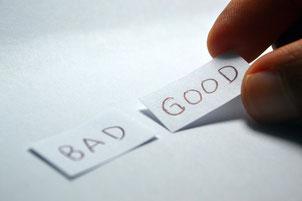 negative Gedanken, positive Gedanken, Stärken, Schwächen, Erfolg
