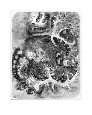 Matthias-Wyss-Kupferstich-Kaltnadel-Copper-Engraving-Drypoint-Cycle-2008–2009-Printing-Plate-20X25-Cm-N°5