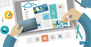 Editor CMS fácil para crear páginas web profesionales