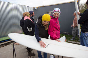 Auswahl Surfbretter in Irland