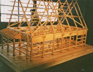 合掌小屋の構造が完成しました