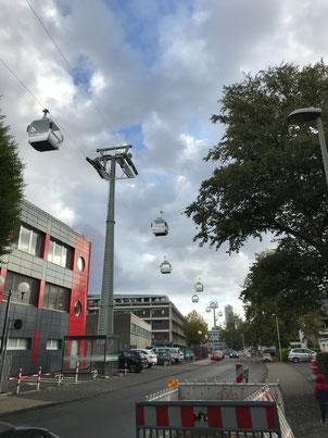 Hermann-Milde-Straße/Haribo: Seilbahnstütze