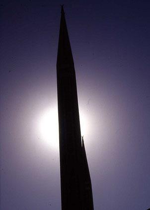 Nein, keine Rakete - nur eine Moschee