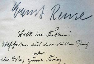 Die Überschrift  in lateinischer Schrift:   Volk in Ketten   Nachrichten aus dem dritten Reich  oder der Weg zum Krieg