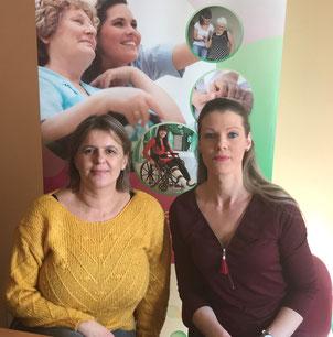 L'équipe administrative est composée, de gauche à droite, d'Isabelle SEMELY (Responsable du service) et Marie DESPRES (Secrétaire).
