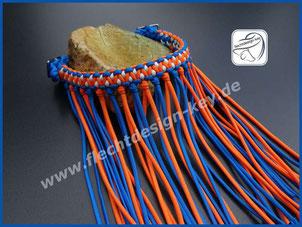 Paracord Stirnband mit Fliegenfransen zum Einschnallen