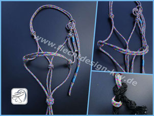 Knotenhalfter aus 6mm PPM, Lead Rope, Bodenarbeitsseil