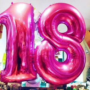 e per i diciottenni palloncini gonfiati ad elio di 4 colori per i dettagli visita la pagina Festa Accessori