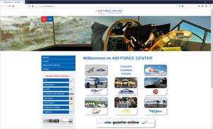 Die Bereiche und Firmen im AIR FORCE CENTER erscheinen nun mit individuellen Homepages.