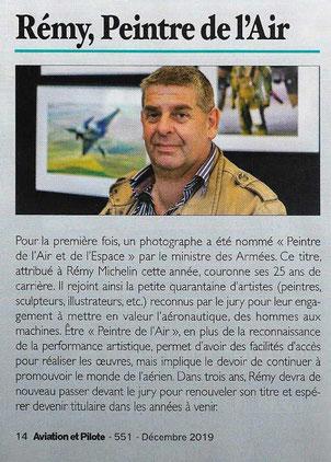 rémy michelin peintre de l'air et de l'espace photographe aéronautique aviation avion