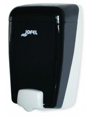 Jaboneta rellenable maxi DJ90001 Color: Humo con base y pulsador blanco Dimensiones en milímetros: Alto: 205 Largo: 115 Ancho: 110 Capacidad: 1000 ml / 33.81 oz Contenido por caja: 2 piezas