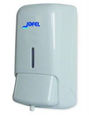 Jabonera  espuma AC40000 Color: Blanco con base blanca Dimensiones en milímetros: Alto: 230 Largo: 108 Ancho: 110 Capacidad: 800 ml / 27.05 oz Contenido por caja: 1 pieza
