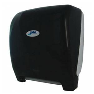 """Despachador de toalla en rollo automático AG26500 Color: Humo con base blanca Dimensiones en milímetros: Alto: 366 Largo: 307 Ancho: 233 Requiere 4 pilas alcalinas de 1.5 V tamaño D Capacidad: 1 rollo de 8"""" / 20.3 cm Contenido por caja: 1 pieza"""