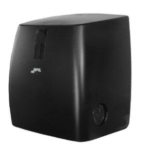 Toallero / Despachador  precorte con visor AG55000 Color: Humo Dimensiones en milímetros: Alto: 370 Largo: 320 Ancho: 243 Capacidad: Papel encolado de 40 g Contenido por caja: 1 pieza