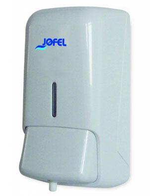 Jabonera espuma y/o spray AC41000 Color: Blanco con base blanca Dimensiones en milímetros: Alto: 237 Largo: 108 Ancho: 120 Capacidad: 800 ml / 27.05 oz Contenido por caja: 1 pieza